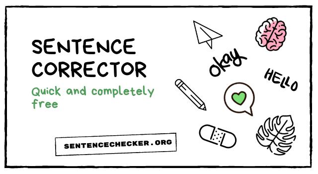 sentence corrector for free