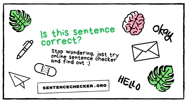 is this sentence correct checker