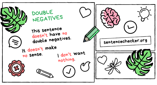 double negatives vs english grammar checker