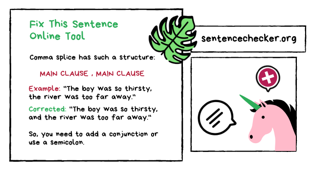 fix this sentence online free
