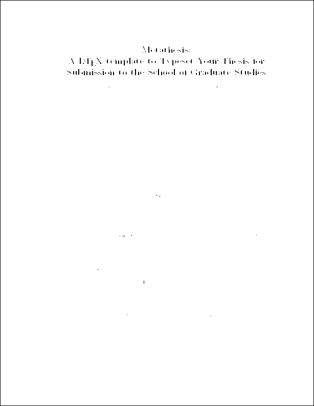 Phd by thesis only cover page format