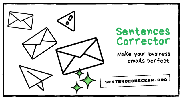 sentences corrector for business emails