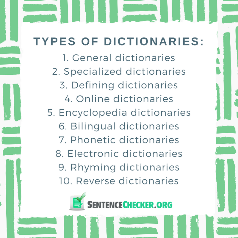 different types of dictionaries