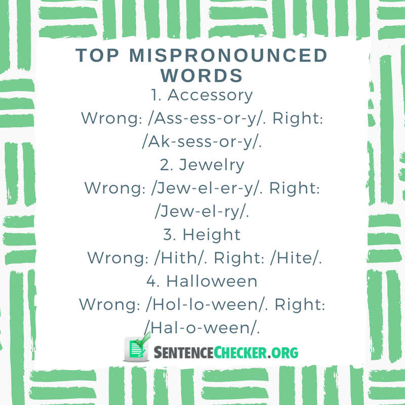 top mispronounced words