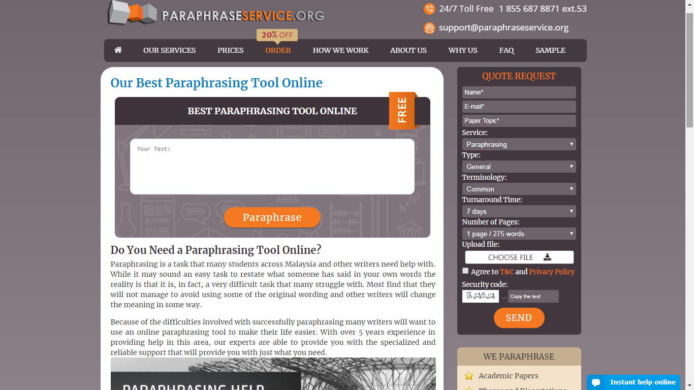 paraphraseservice.org review