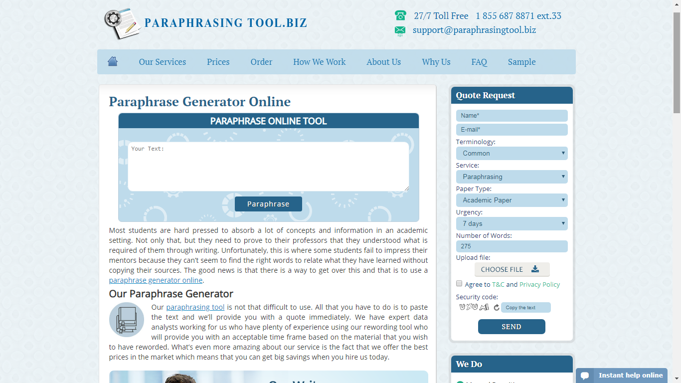 paraphrasingtool.biz review