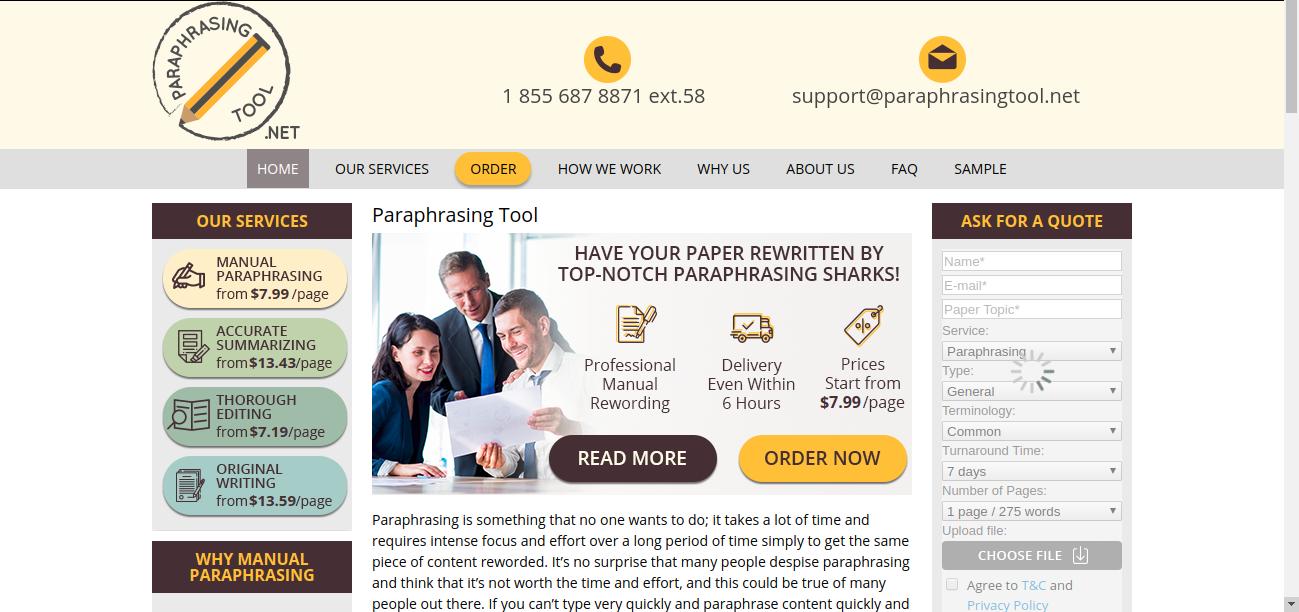paraphrasingtool.net review